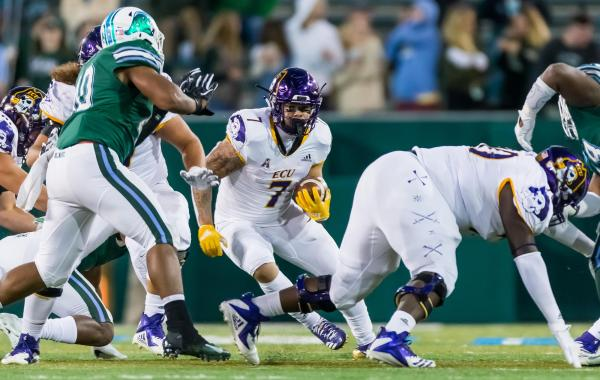 Darius Pinnix looks for running room against Tulane